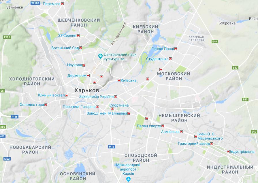карта харькова гугл фото