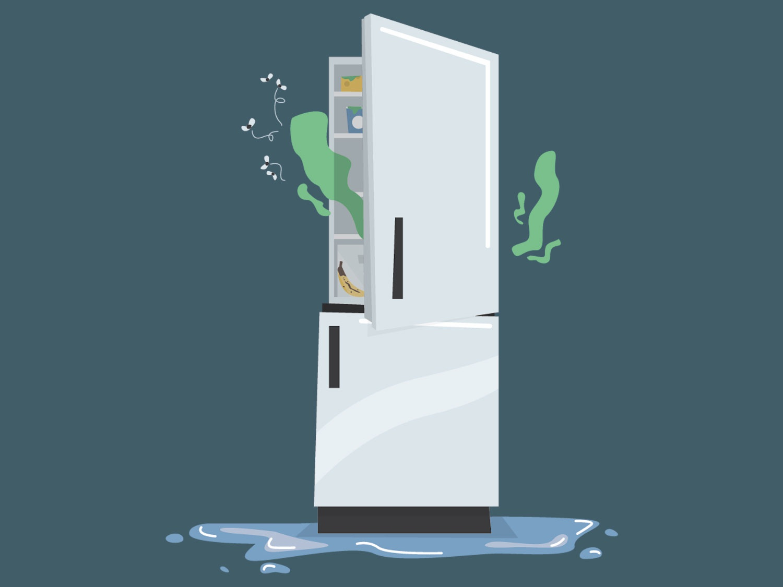 сломанный холодильник